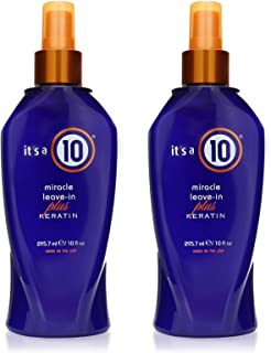 It's a 10 Haircare Miracle Leave-In Plus Keratin Spray, 10 fl. oz (Pack of 2)