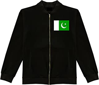 Pakistan Flag Country Chest Cotton Bomber Jacket