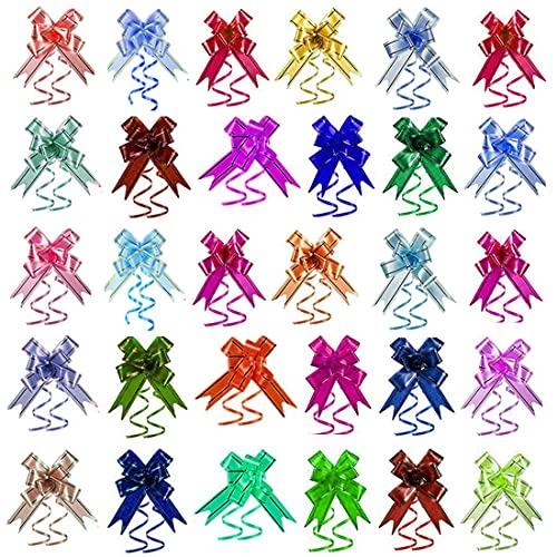 200 Uds Lazos decorativos De Varios Colores Para ,Lazos De Regalo Para Navidad,Se Utiliza Para La Decoración De Bodas Del Día De San Valentín y Envoltura De Regalos,21x1.2 cm