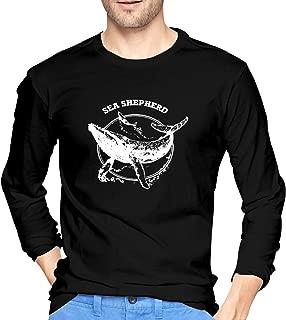 Sea Shepherd Whale Shirt Men's Long Sleeve Cotton T-Shirt