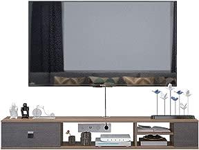 MLMHLMR Wall Shelf Wall-Mounted TV Cabinet/Shelf-top Box Router TV Console Wall-Mounted Shelf (Color : Brown)