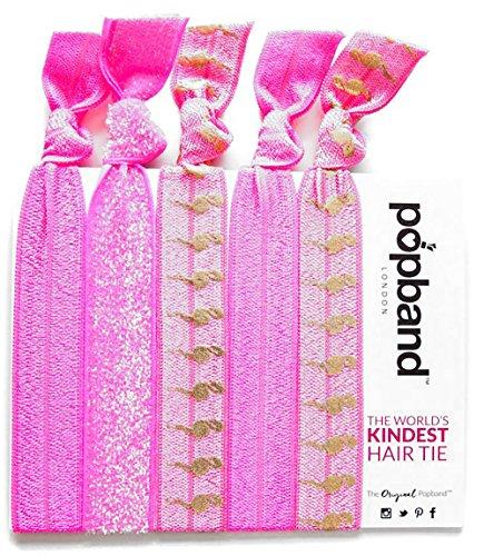Popband Flamant Rose - Paquet de 5 Élastiques à Cheveux Popbands