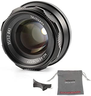 7artisans 35mm F1.2 Large Aperture Prime APS-C Aluminum Lens for Sony E Mount Mirrorless Cameras A6500 A6300 A6100 A6000 A...