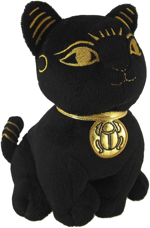 Black Egyptian Toy Cat Goddess Bastet Figure Bast Stuffed Plush Animal