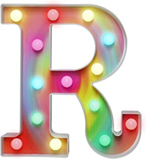 16 Colors Rainbow LED Letter Lights, Colorful Marquee...