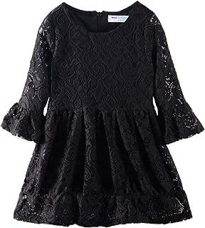 Áo quần dành cho bé gái – Little Girls' Lace Dress Party Long Sleeve Dress