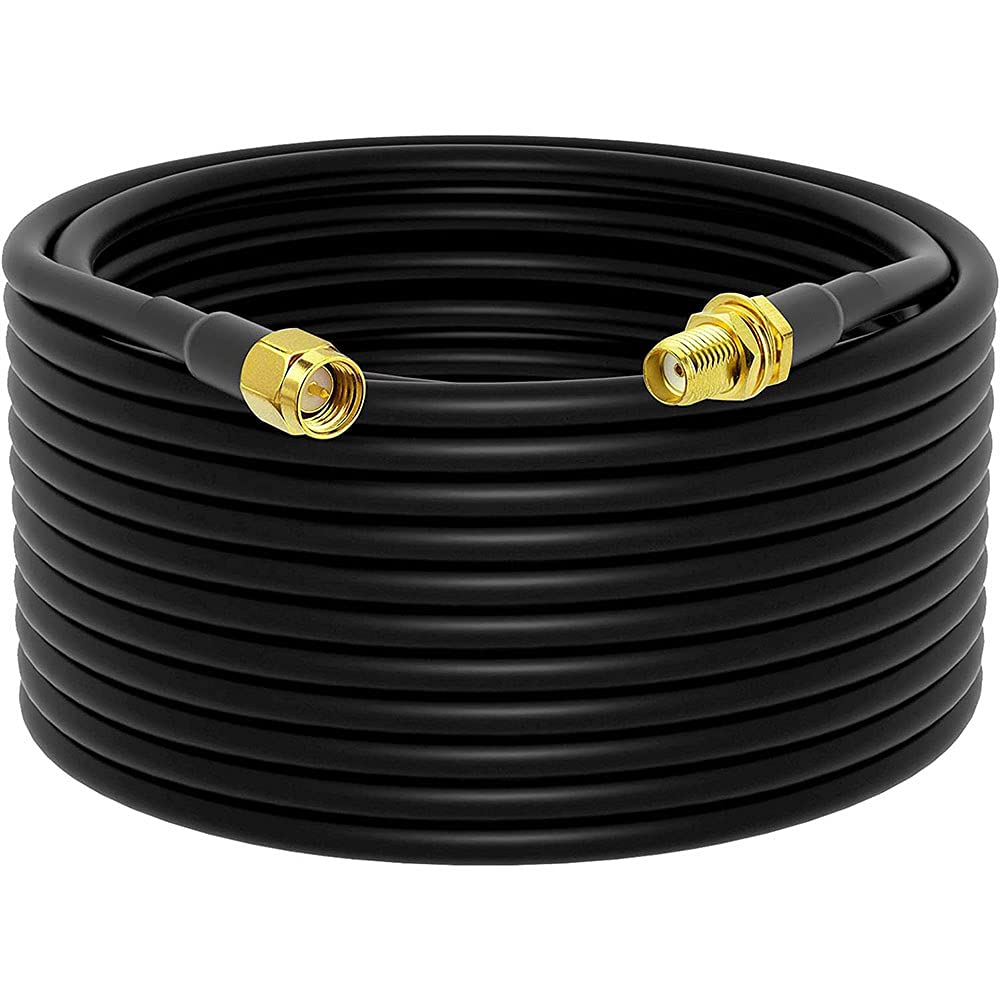Low-Loss Very popular Coaxial Extension Cable 15-Meter SMA RG58 Ft 49.2 trust Fema