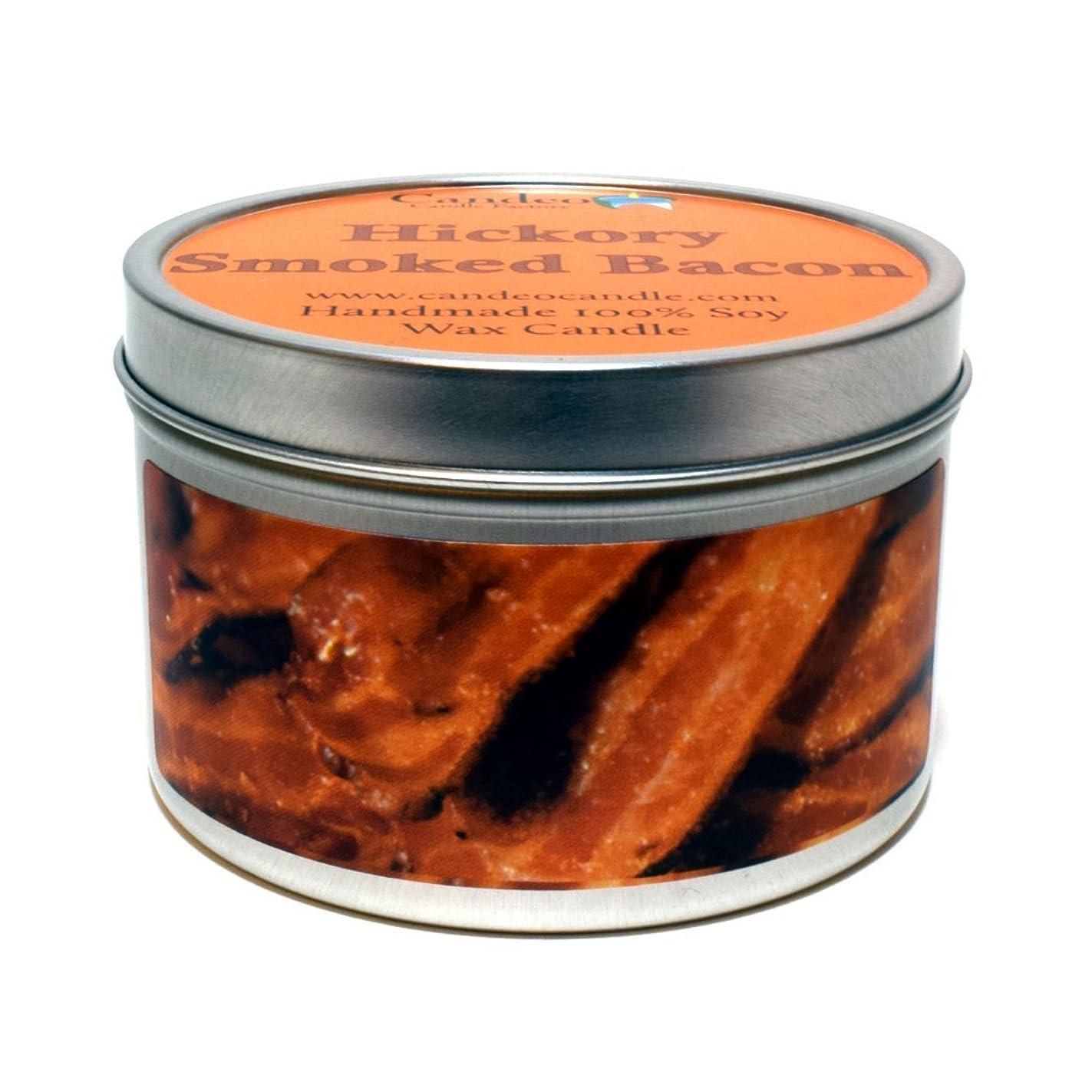 回復司令官義務付けられた(180ml) - Hickory Smoked Bacon Super Scented Soy Candle Tin (180ml)
