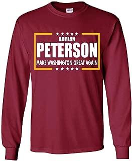 Long Sleeve Maroon Washington Peterson Make Washington Great Again T-Shirt