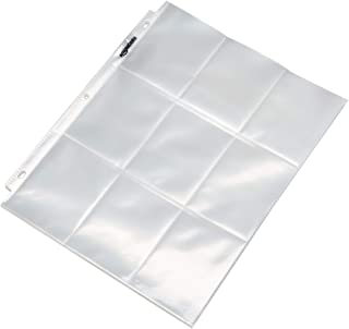 AmazonBasics 9 Sleeve Card Protectors Binder Sheet - 100-Pack