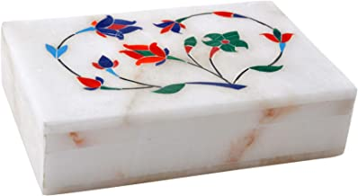 Hashcart Hand Crafted Marble Jewelry Box (6x4 inch) - Jewelry Organizer for Women