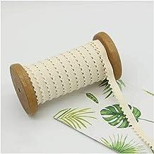 Xpwoz 20m 10mm elastisch koord for Het Naaien DIY kleding en Textiel accessoires (Color : Beige)