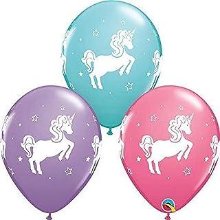 "Qualatex 11"" Whimsical Unicorn Latex Balloons, Multicolor"