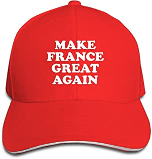 PINE-TREE-CAP Adult Vintage Make France Great Again Snapback Hat Dad Hat Black Sandwich Peaked Cap Red