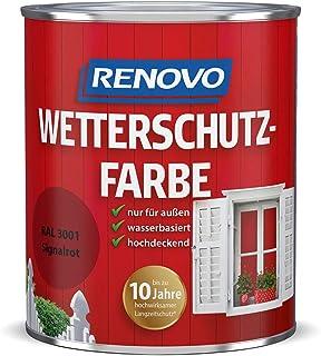 Renovo Wetterschutzfarbe 3001 signalrot 750 ml