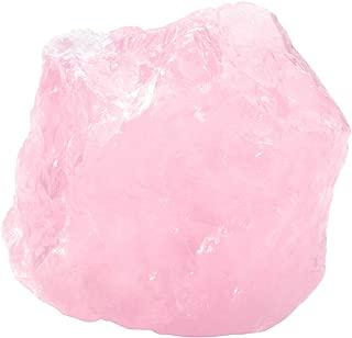 PESOENTH 0.23 lb Rough Rose Quartz Crystal Rock Natural Chakra Stone for Cabbing,Tumbling,Lapidary,Polishing, Wicca &Reiki Healing Crystal Balancing (1.57