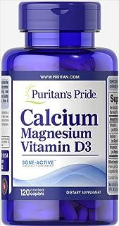 Puritan's Pride Calcium Magnesium with Vitamin D3 120 Caplets 16154