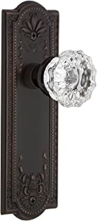 Nostalgic Warehouse Meadows Plate Double Dummy Crystal Glass Door Knob in Timeless Bronze
