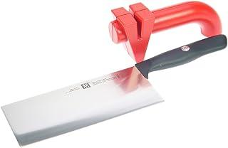 Zwilling Life Asia - Juego de cuchillos (2 piezas) Twinsharp - Cuchillo chino y afilador