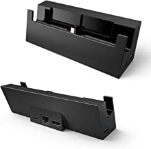 Switch Dock with Ethernet, LAN Port Nintendo Switch Docking Station GameWill Portable Nintendo Dock Connect to TV via HDMI Automatically - Replacement Charging Stand Dock for Nintendo Switch