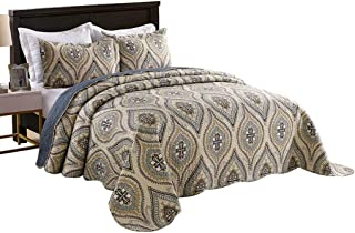 Best gray and gold bedspread Reviews