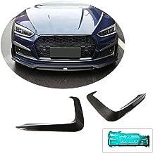 MCARCAR KIT Front Bumper Vent fits Audi S5 A5 B9 Sline 2Door 4Door 2017-2019 Factory Outlet Carbon Fiber CF Fog Lamp Grill Air Fender Scoop Spoiler Canard Winglets Splitter Cover(Not for A5 Base)