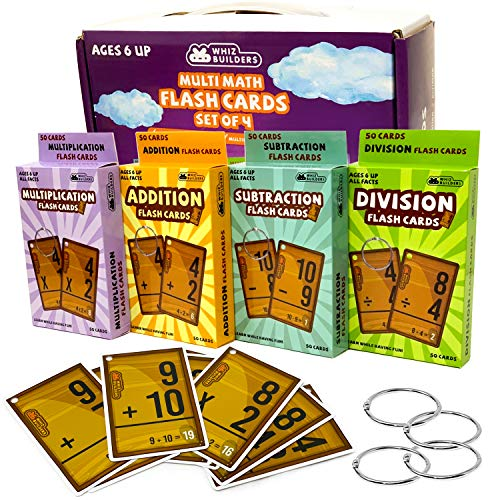 Math Flash Cards Set For Kids
