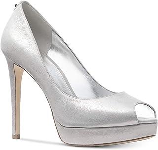 Michael Michael Kors Womens Erika Fabric Peep Toe Platform Pumps