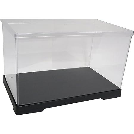 かしばこ商店 透明フィギュアケース 402121 プラスチック 組立式 W400×D210×H210mm ディスプレイケース