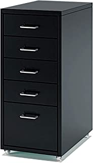 QSJY Meubles de rangements à tiroirs Classeur dossiers Suspendus 5 tiroirs, tiroirs à roulettes Dossier, dépôt Tiroirs en ...