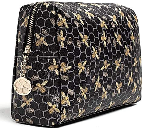 Luxury Makeup Bag for Purse Large Women Cosmetic Bags for Toiletry Travel Black product image