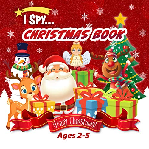 I Spy Christmas books: for Ages 2-5 | Ornaments Christmas Coloring Book for toddlers, Creative Unique Pages, Red Christmas Stocking, Holiday Wreath, Gnome, Stained Glass and More!!
