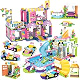 Kith Hair Room Building Kit Swimming Pool Creative Building Toy Set for Kids, Best Learning and Roleplay Gift for Girls and Boys with Storage Box (1373 Pieces)
