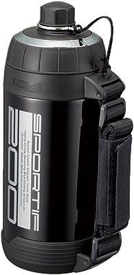ピーコック 水筒 ステンレスボトル ストレートドリンクタイプ グロスブラック 2.0L ADT-200 BG