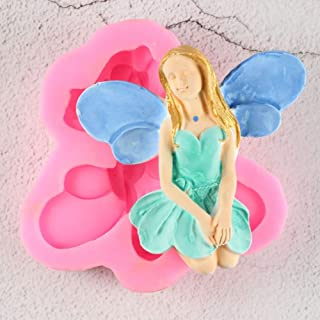 MOUJU Flower Fairy Silicone Soap Mold Gumpaste Chocolate Clay Candy Baking Mold Fondant Cake Decorating Tools DIY