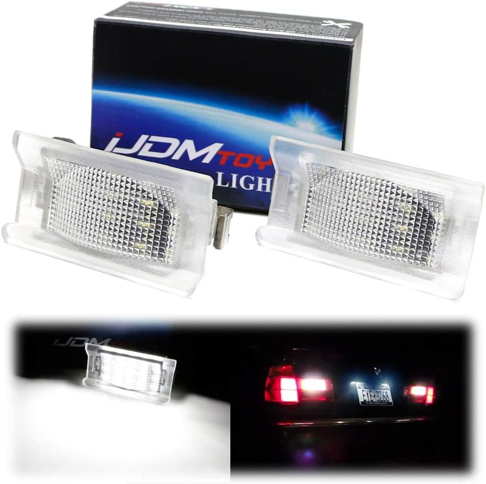 iJDMTOY OEM-Fit Max 68% OFF 3W Full LED Special sale item License Plate W Kit Compatible Light