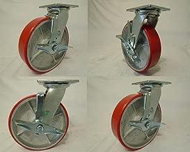 2 and Rigid 700lb Ea Tool Box 504RPS//504PSBC 4 X 2 Swivel Caster Heavy Duty Polyurethane Wheel Brakes 2