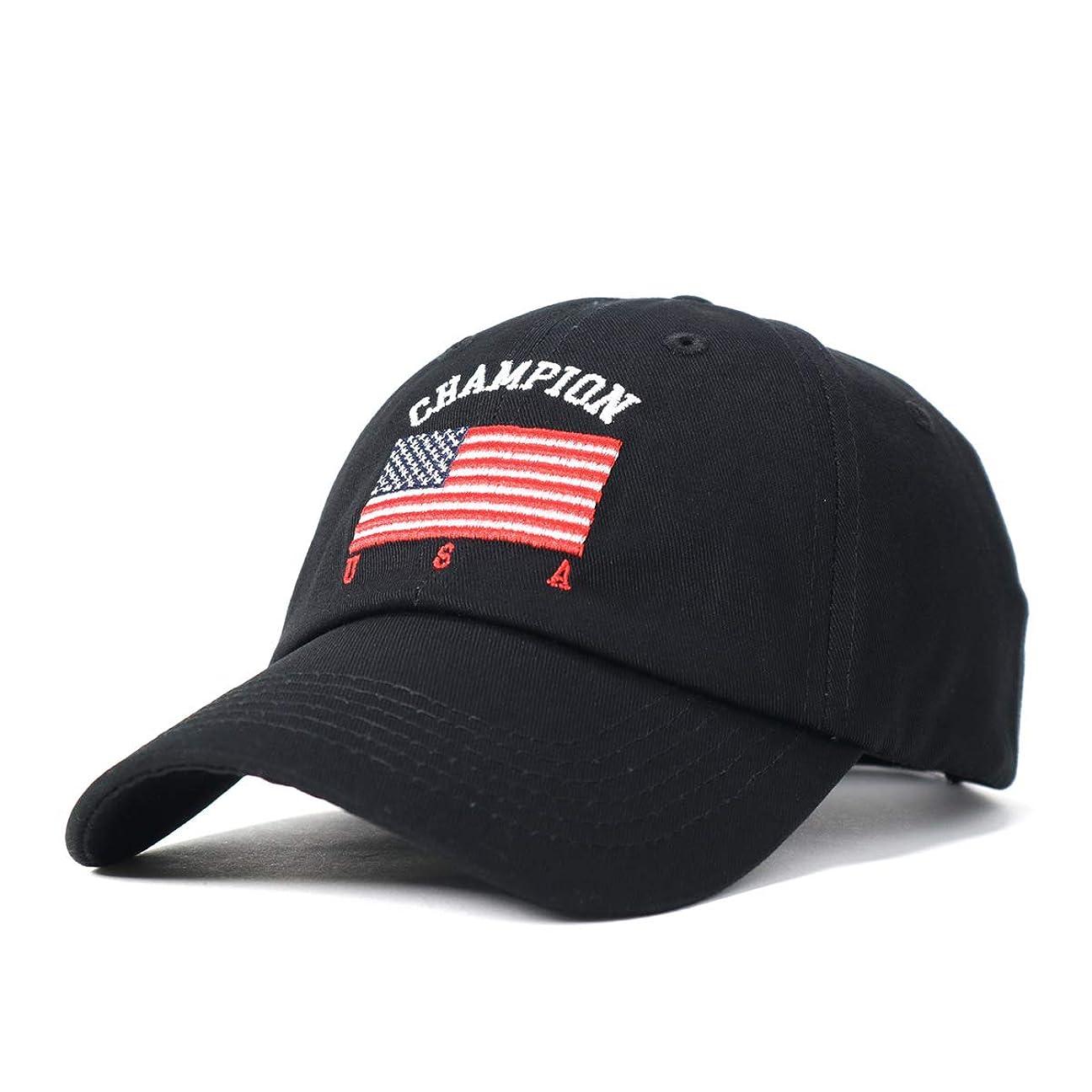 枯渇するアンテナ仲人(チャンピオン) Champion キャップ US FLAG CHAMPION FREE