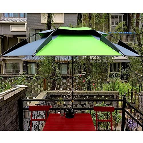 HMHMVM Sombrillas de Playa para Arena UPF50 + Sombrilla para Patio al Aire Libre Verde Sombrilla Ventilaciones de Aire Diseño y Poste de Aluminio inclinable portátil para Trabajo Pesado Adecuado pa