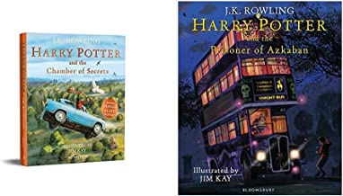 Harry Potter And The Chamber Of Secrets: Illustrated Edition ( Illustrated Edtn)+Harry Potter And The Prisoner Of Azkaban:...