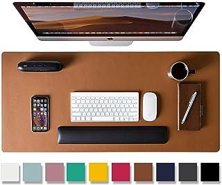 Aothia Tapis de bureau,tapis de souris,tapis de bureau,80x40cm,buvard de bureau en cuir PU antidérapant,protecteur de bure...