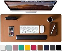 Leather Desk Pad Protector,Mouse Pad,Office Desk Mat, Non-Slip PU Leather Desk Blotter,Laptop Desk Pad,Waterproof Desk Wri...