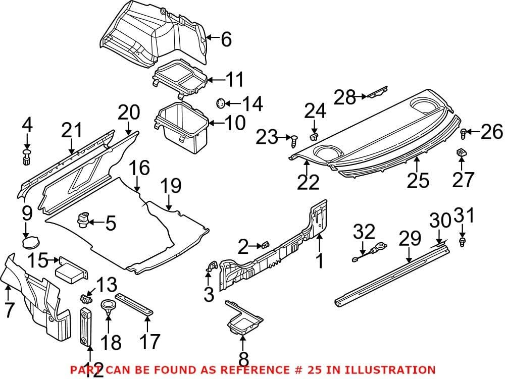 Genuine OEM Rear Package New York Mall Tray Trim Black E46 Wholesale BMW E36 323i 32 For