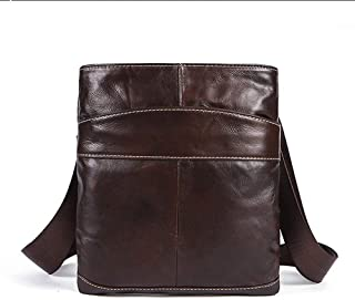 Mens Bag Leather Bag Men's Bag European And American Men's Bag Flip Men's Bag Leather Men's Bag Top Layer Leather Men's Shoulder Bag Casual Messenger Bag High capacity