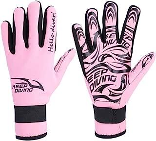 2MM Warm Neoprene Gloves Swimming Scuba Snorkeling Gloves Equipment Adult(S-Pink)