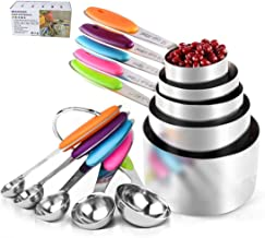 10Pcs/Set Measuring Cups Spoons with Scale Stainless Steel Cake Mold Measuring Cup Baking tool