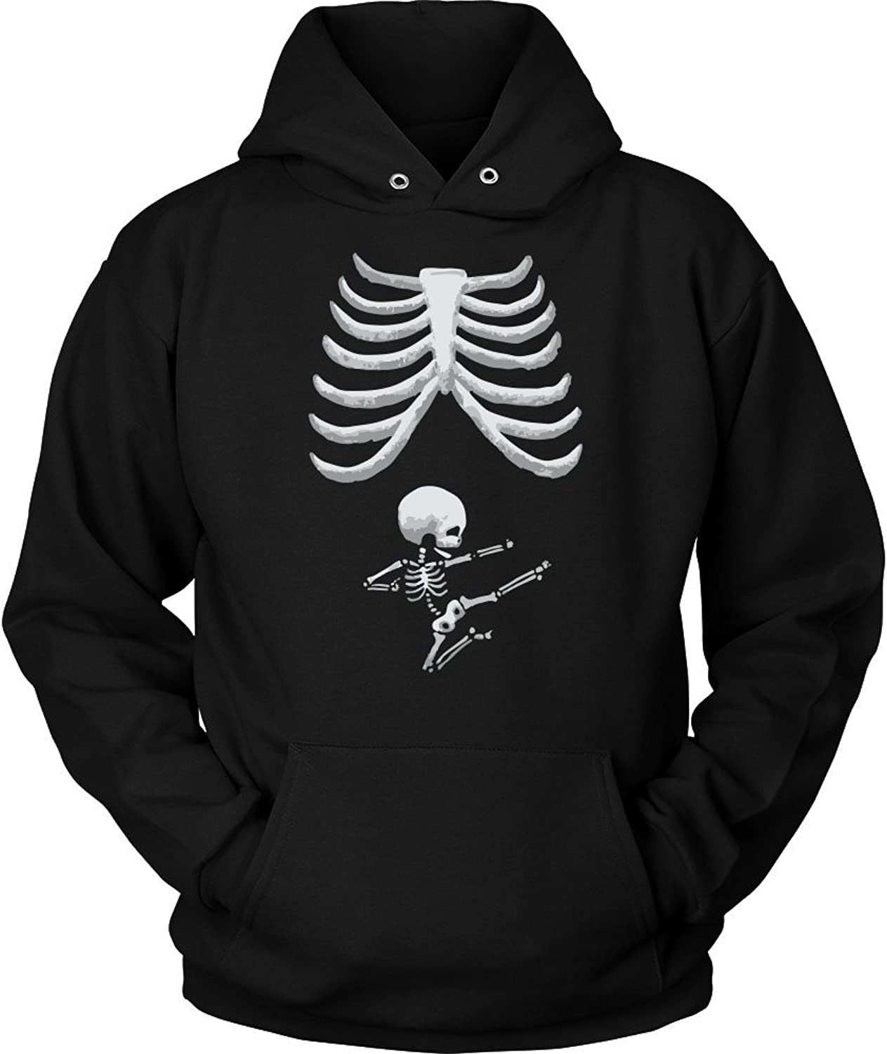 Funny Baby Skeleton for Pregnant Maternity Women Hoodie Halloween, Gift for Mom, Mother's Day