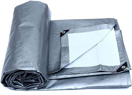 PBZY Bache Blanche Toile de Tente extérieure bache imperméable à l'eau Parasol tissé de PE bache d'auvent de Prougeection de soleil-175g   m2, épaisseur 0.32mm (12 Tailles)