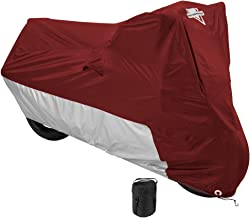 Nelson-Rigg MC-903-05-XX Deluxe Motorcycle Cover, Weather Protection, UV, Air Vents, Heat Shield, Windshield Liner, Compression Bag, Grommets XX-Large fits Touring Motorcycles, also Large Cruisers and Adventure Motorcycles W/ Saddlebags & Top Trunk