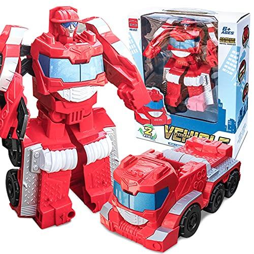 WCCCY Figura Atemporal de los Niños Fuego De Camiones De Deformación Robot Robot Robot Modelo Figura De Acción para Niños Y Niñas Modelo de Robot